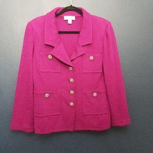 ST. JOHN COLLECTION Purple Blazer 12